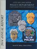 Photo of 2014 Lancaster Police Annual Report front page