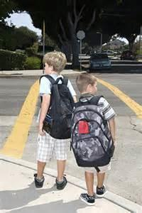 kids at crosswalk