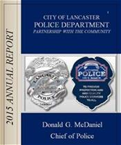 Photo of 2015 Lancaster Police Annual Report Front Page