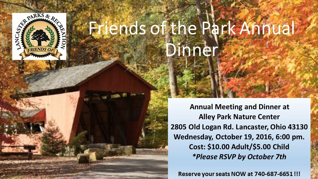 Friends of the Park Annual Dinner
