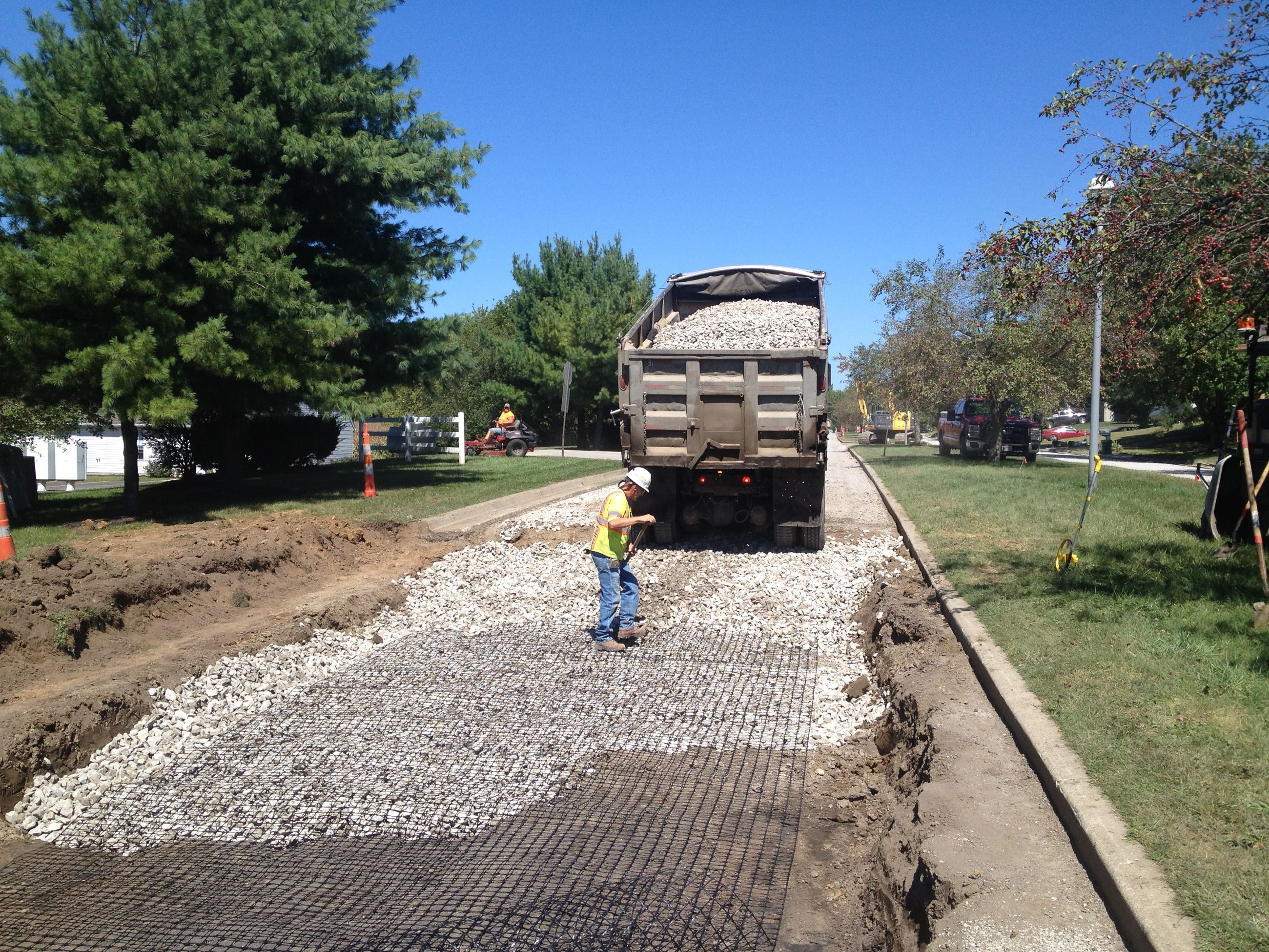 Crews repaving streets
